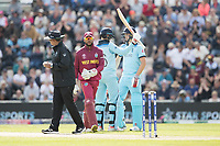 Joe Root (England) acknowledges his half century during England vs West Indies, ICC World Cup Cricket at the Hampshire Bowl on 14th June 2019