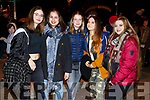 Tara Hennin, Laura Zanon, Anna Woerdenwever, Jiorjia Zissolella and Selina Gareiss at the firework display in Denny St on New Years Eve.