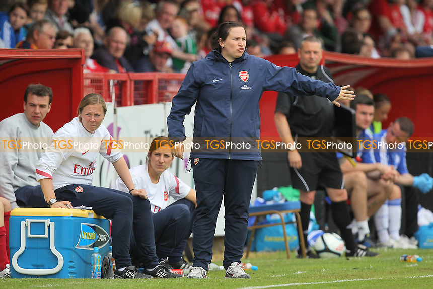 Arsenal manager Laura Harvey - Arsenal Ladies vs Chelsea Ladies - FA Womens Super League Continental Cup Football at Boreham Wood FC - 10/06/12 - MANDATORY CREDIT: Gavin Ellis/TGSPHOTO - Self billing applies where appropriate - 0845 094 6026 - contact@tgsphoto.co.uk - NO UNPAID USE.