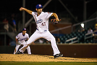 Jake Reed (47) of the Chattanooga Lookouts pitches during a game between the Jackson Generals and Chattanooga Lookouts at AT&T Field on May 7, 2015 in Chattanooga, Tennessee. (Brace Hemmelgarn/Four Seam Images)