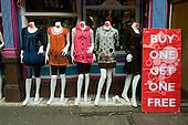 Mannequin dress display in Camden Town
