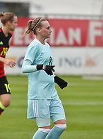 20171123 - TUBIZE , BELGIUM : Russian Maria Galay pictured during a friendly game between the women teams of the Belgian Red Flames and Russia at complex Euro 2000 in Tubize , Thursday  23 October 2017 ,  PHOTO Dirk Vuylsteke | Sportpix.Be