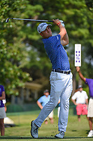 Justin Thomas (USA) watches his tee shot on 11 during round 2 of the WGC FedEx St. Jude Invitational, TPC Southwind, Memphis, Tennessee, USA. 7/26/2019.<br /> Picture Ken Murray / Golffile.ie<br /> <br /> All photo usage must carry mandatory copyright credit (© Golffile | Ken Murray)