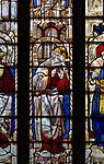 Sixteenth century stained glass windows inside church of Saint Mary, Fairford, Gloucestershire, England, UK - window 18 Malachi
