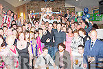 0885-0890.---------.Double the fun.--------------.Friends Ian Godley(Fenit)and John Murphy(Oakpark,Tralee)standing centre,both celebrated their 21st birthdates last Saturday night at Kirby's Brogue Inn,Rock St,Tralee with a massive group of friends and family.