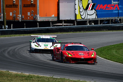 22-23 July, 2016, Lakeville, Connecticut USA<br /> 62, Ferrari, F488 GTE, GTLM, Giancarlo Fisichella, Toni Vilander<br /> &copy;2016, Richard Dole<br /> LAT Photo USA