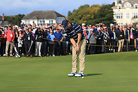 John Augenstein (USA) on the 16th during the Foursomes at the Walker Cup, Royal Liverpool Golf CLub, Hoylake, Cheshire, England. 07/09/2019.<br /> Picture Thos Caffrey / Golffile.ie<br /> <br /> All photo usage must carry mandatory copyright credit (© Golffile | Thos Caffrey)