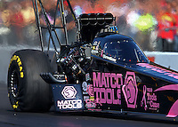 Oct 5, 2013; Mohnton, PA, USA; NHRA top fuel dragster driver Antron Brown during qualifying for the Auto Plus Nationals at Maple Grove Raceway. Mandatory Credit: Mark J. Rebilas-