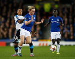 Tom Davies of Everton tackled during the Europa League Group E match at Goodison Park Stadium, Liverpool. Picture date: September 28th 2017. Picture credit should read: Simon Bellis/Sportimage