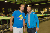 09-02-14, Netherlands,Rotterdam,Ahoy, ABNAMROWTT, Thiemo de Bakker(NED)with  coach Melle van Gemerden<br /> Photo:Tennisimages/Henk Koster