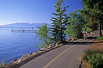 Pedestrian / bike recreation trail along the shore of Lake Tahoe, near Tahoe Pines, California