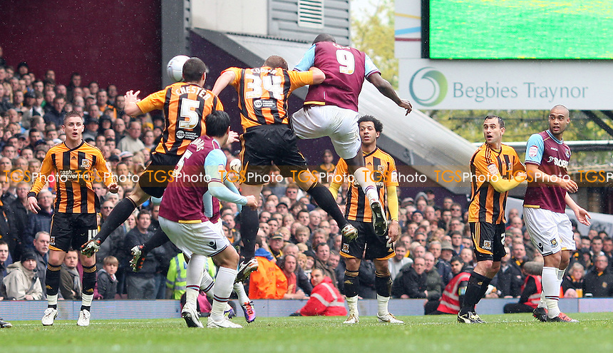 Carlton Cole scores the 1st goal for West Ham - West Ham United vs Hull City, npower Championship at Upton Park, West Ham - 28/04/12 - MANDATORY CREDIT: Rob Newell/TGSPHOTO - Self billing applies where appropriate - 0845 094 6026 - contact@tgsphoto.co.uk - NO UNPAID USE.