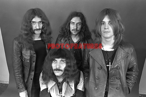 Black Sabbath 1970  Geezer Butler, Tony Iommi, Bill Ward, Ozzy Osbourne..© Chris Walter....