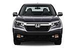 Car photography straight front view of a 2018 Honda Ridgeline RTL-T 4 Door Pick-up Front View