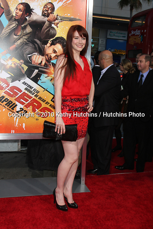 """Bryce Dallas Howard.arrives at """"The Losers"""" Premiere.Grauman's Chinese Theater.Los Angeles, CA.April 20, 2010.©2010 Kathy Hutchins / Hutchins Photo..."""