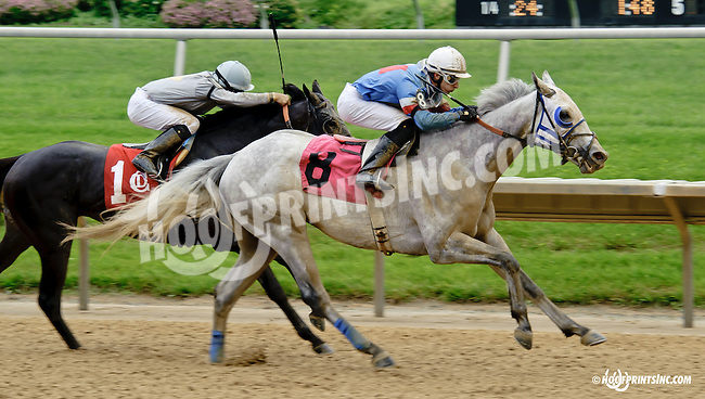 Hiram winning at Delaware Park racetrack on 6/5/14