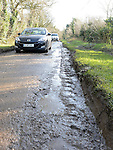 One of the many potholes on the Cardrath Road, Broomfield, Collon. Photo:Colin Bell/pressphotos.ie