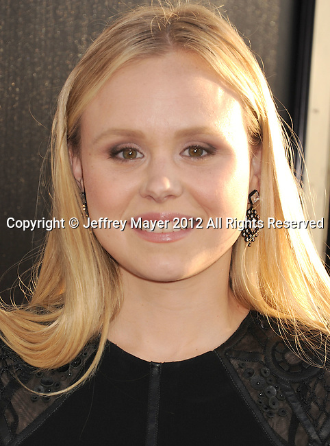 HOLLYWOOD, CA - JUNE 20: Alison Pill arrives at the Los Angeles premiere of HBO's 'The Newsroom' at ArcLight Cinemas Cinerama Dome on June 20, 2012 in Hollywood, California.