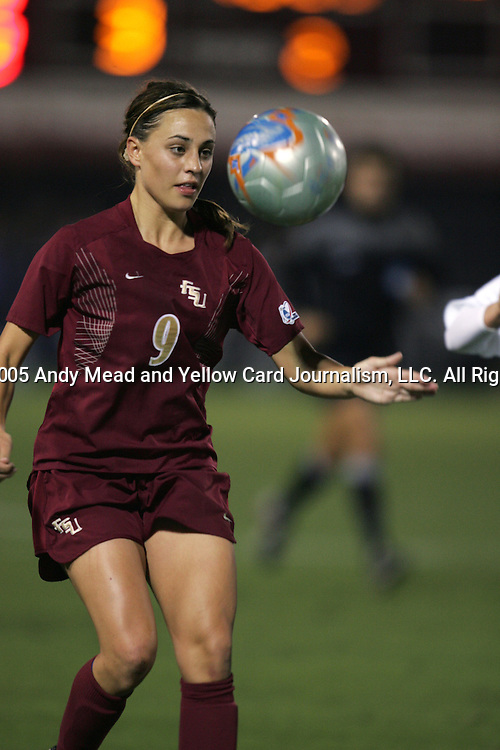 FSU's Melissa Samokishyn. The UCLA Bruins defeated the Florida State University Seminoles 4-0 at Aggie Soccer Stadium in College Station, Texas, Friday, December 2, 2005.
