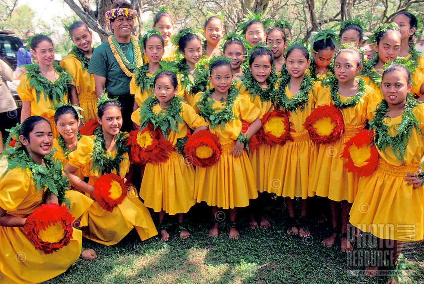 EDITORIAL ONLY. Hula performers at Ka Hula Piko Festival on Molokai