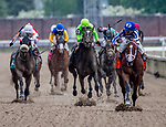 May 4, 2019 : #7 Mr. Money, ridden by jockey Gabriel Saez, wins the Pat Day Mile on Kentucky Derby Day at Churchill Downs on May 4, 2019 in Louisville, Kentucky. Carolyn Simancik/Eclipse Sportswire/CSM