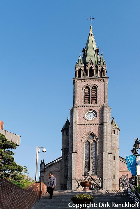 Katholische Kathedrale von1898 in Myeongdong, Seoul, S&uuml;dkorea, Asien<br /> Catholic Cathedral built 1898 in Myeongdong, Seoul, South Korea, Asia