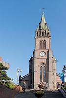 Katholische Kathedrale von1898 in Myeongdong, Seoul, Südkorea, Asien<br /> Catholic Cathedral built 1898 in Myeongdong, Seoul, South Korea, Asia