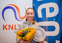 Hilversum, Netherlands, December 3, 2017, Winter Youth Circuit Masters, Overall Winner girls 14 years Anouk Koevermans<br /> Photo: Tennisimages/Henk Koster
