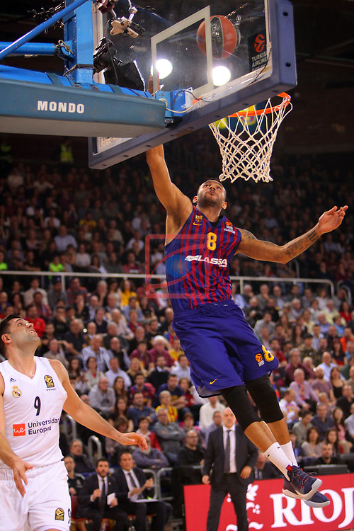 Turkish Airlines Euroleague 2018/2019. <br /> Regular Season-Round 24.<br /> FC Barcelona Lassa vs R. Madrid: 77-70. <br /> Adam Hanga.