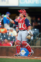 Hagerstown Suns catcher Jorge Tillero (11) during a game against the Lexington Legends on May 22, 2015 at Whitaker Bank Ballpark in Lexington, Kentucky.  Lexington defeated Hagerstown 5-1.  (Mike Janes/Four Seam Images)