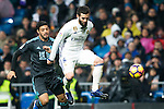 Real Sociedad's forward Carlos Vela and Real Madrid's defender Nacho Fernandez during the match of La Liga between Real Madrid and   Real Sociedad at Santiago Bernabeu Stadium in Madrid, Spain. January 29th 2017. (ALTERPHOTOS/Rodrigo Jimenez)