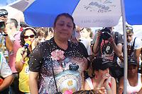 SAO PAULO, SP, 12 FEVEREIRO 2013 - CARNAVAL SP - APURAÇÃO DE VOTOS DAS ESCOLAS  DE SAMBA DE SÃO PAULO  -  A presidente da escola Rosas de Ouro, Angelina Basilio, após encerramento da votação. A escola leva o 2º lugar do Carnaval  Grupo Especial em São Paulo no Sambódromo do Anhembi na região norte da capital paulista, nesta quarta-feira, 12. (FOTO:  LOLA OLIVEIRA / BRAZIL PHOTO PRESS).