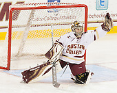 Katie Burt (BC - 33) -  The Boston College Eagles defeated the visiting Boston University Terriers 5-0 on BC's senior night on Thursday, February 19, 2015, at Kelley Rink in Conte Forum in Chestnut Hill, Massachusetts.