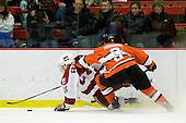 Luke Greiner (Harvard - 24), Jody Pederson (Princeton - 3) - The Princeton University Tigers defeated the Harvard University Crimson 2-1 on Friday, January 29, 2010, at Bright Hockey Center in Cambridge, Massachusetts.