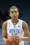 02 January 2014: North Carolina's Allisha Gray. The University of North Carolina Tar Heels played the James Madison University Dukes in an NCAA Division I women's basketball game at Carmichael Arena in Chapel Hill, North Carolina.