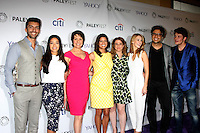 "LOS ANGELES - MAR 15:  Justin Baldoni, Gina Rodriguez, Ivonne Coll, Andrea Nevado, Jennie Urman, Yael Grobglas, Jaime Camil, Brett Dier at the PaleyFEST LA 2015 - ""Jane the Virgin"" at the Dolby Theater on March 15, 2015 in Los Angeles, CA"