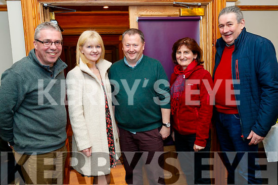 Declan Murphy, Avril Hewitt, John Murray, Margaret Twomey and Tom Galvin, pictured at the Chain Gang information evening, held at the Meadowlands  Hotel, Tralee, on Thursday, February 27th last were