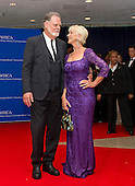 Helen Mirren and Taylor Hackford arrive for the 2016 White House Correspondents Association Annual Dinner at the Washington Hilton Hotel on Saturday, April 30, 2016.<br /> Credit: Ron Sachs / CNP<br /> (RESTRICTION: NO New York or New Jersey Newspapers or newspapers within a 75 mile radius of New York City)