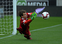 Phoenix keeper Zac Jones is beaten from the penalty spot during the ISPS Handa Premiership football match between Wellington Phoenix Reserves and Waitakere United at Westpac Stadium in Wellington, New Zealand on Saturday, 3 November 2018. Photo: Dave Lintott / lintottphoto.co.nz