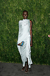 Model Grace Bol attends the Fifteenth Annual CFDA/Vogue Fashion Fund Awards at the Brooklyn Navy Yard building 28, at 63 Flushing Avenue, on November 5, 2018.