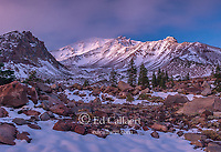 Dusk, Mount Shasta, Panther Meadow, Shasta-Trinity National Forest, California