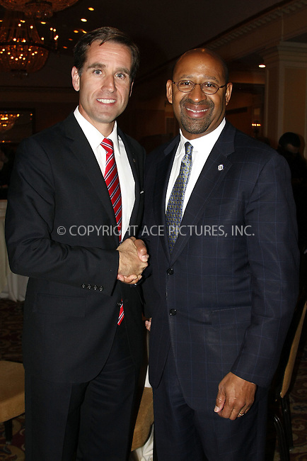 WWW.ACEPIXS.COM . . . . .  ....April 23 2012, Philadelphia....Delaware Attorney General and son of Vice President Joe Biden with Philadelphia Mayor Michael Nutter attends a political rally at the Warwick Hotel  on April 23 2012 in Philadelphia......Please byline: William T. Wade jr- ACE PICTURES.... *** ***..Ace Pictures, Inc:  ..Philip Vaughan (212) 243-8787 or (646) 769 0430..e-mail: info@acepixs.com..web: http://www.acepixs.com