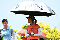 SINGAPORE - MARCH 02: Azahara Munoz of Spain on the 6th tee during the third round of the HSBC Women's World Championship 2019 at Sentosa Golf Club - Tanjong Course, Singapore on March 02, 2019.<br /> .<br /> .<br /> .<br /> (Photo by: Naratip Golf Srisupab/SEALs Sports Images)<br /> .<br /> Any image use must include a mandatory credit line adjacent to the content which should read: Naratip Golf Srisupab/SEALs Sports Images