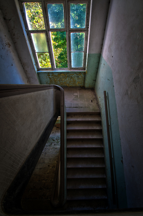 Stairwell in Krampnitz old tank barracks