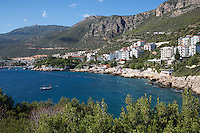 Turkey, Province Antalya, Kas: seafront hotels and apartments | Tuerkei, Provinz Antalya, Kas: beliebter Ferienort