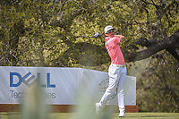 Rafael Cabrera Bello (ESP) watches his second tee shot on 10 after a lost ball during day 2 of the World Golf Championships, Dell Match Play, Austin Country Club, Austin, Texas. 3/22/2018.<br /> Picture: Golffile | Ken Murray<br /> <br /> <br /> All photo usage must carry mandatory copyright credit (&copy; Golffile | Ken Murray)