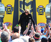 Jun 11, 2017; Englishtown , NJ, USA; NHRA top fuel driver Blake Alexander during the Summernationals at Old Bridge Township Raceway Park. Mandatory Credit: Mark J. Rebilas-USA TODAY Sports