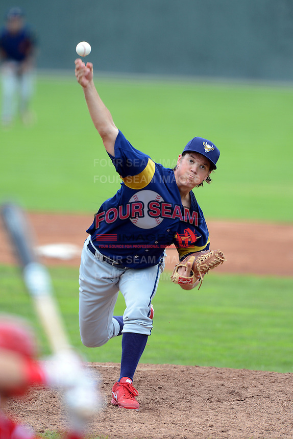 State College Spikes pitcher Chris Perry #40 during a game against the Batavia Muckdogs on June 30, 2013 at Dwyer Stadium in Batavia, New York.  State College defeated Batavia 7-2.  (Mike Janes/Four Seam Images)