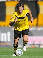 Fussball, 2. Bundesliga, Saison 2011/12, SG Dynamo Dresden - Alemannia Aachen, Sonntag (16.10.11), gluecksgas Stadion, Dresden. Dresdens Romain Bregerie am Ball.