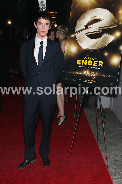 **ALL ROUND PICTURES FROM SOLARPIX.COM**.**SYNDICATION RIGHTS FOR UK, SPAIN, PORTUGAL, AUSTRALIA, S.AFRICA & DUBAI (U.A.E) ONLY**.The City of Ember New York City film Premiere at AMC Loews 19th Street Theatre in New York City in the USA. .This Pic:Harry Treadaway..JOB REF: 7546-PHZ/Sylvain Gaboury  DATE:07_10_08 .**MUST CREDIT SOLARPIX.COM OR DOUBLE FEE WILL BE CHARGED* *UNDER NO CIRCUMSTANCES IS THIS IMAGE TO BE REPRODUCED FOR ANY ONLINE EDITION WITHOUT PRIOR PERMISSION*